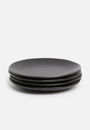 Kento side plate set of 4 - charcoal