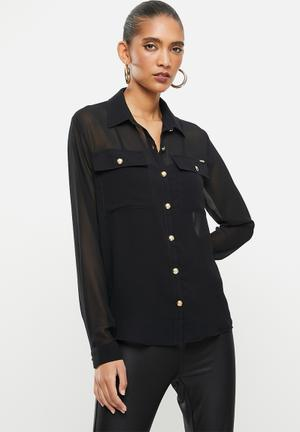 Women Ladies Formal Denim Shirt Dress Longline Tops Tunic Blouses Summer
