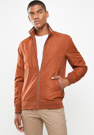 Zip through jacket - rust