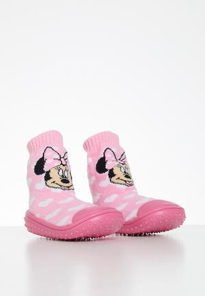 Minnie mouse rubber socks - pink