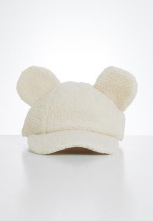 Girls bear ears cap - cream