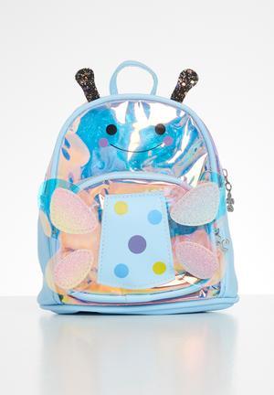 Girls butterfly backpack - blue
