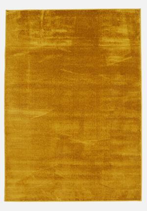 Silky micro polyester rug - mustard