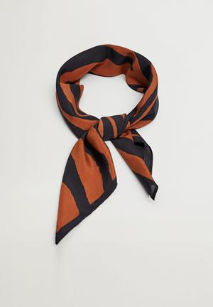 Tiger neck scarf / black