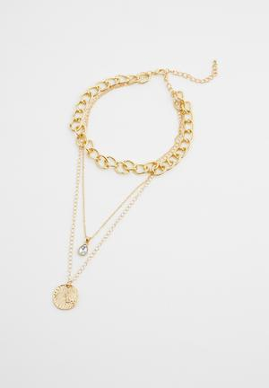 Kaylee layered necklace - gold