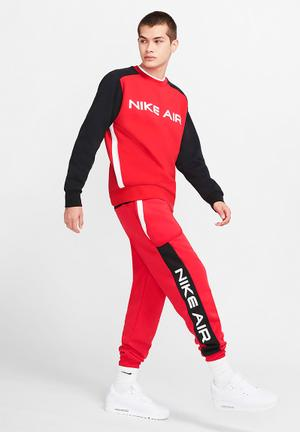 Nsw nike air fleece joggr - university red/black/white
