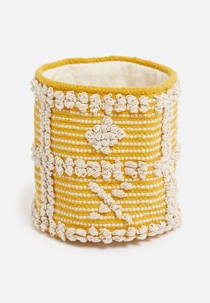Sonny woven basket - yellow