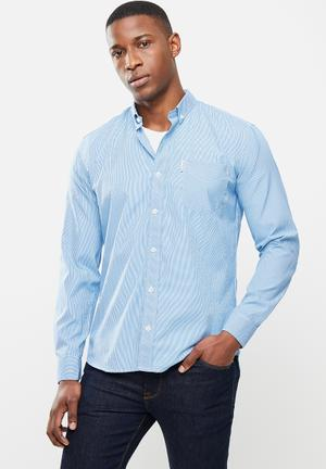 Small ging shirt - blue