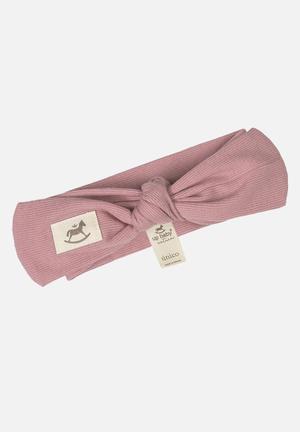 Baby girls ribbed headband - pink