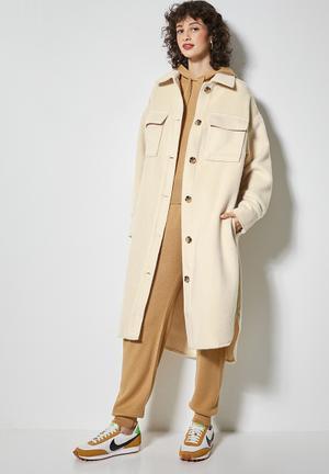 Midi overcoat - ecru