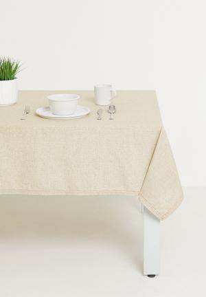 Patch tablecloth - white/red