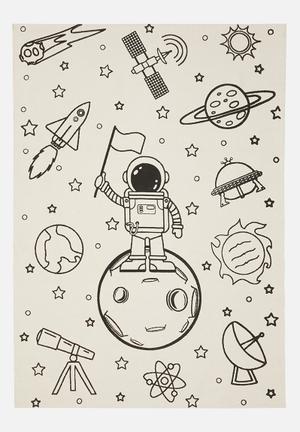 Astro  printed rug - black & cream