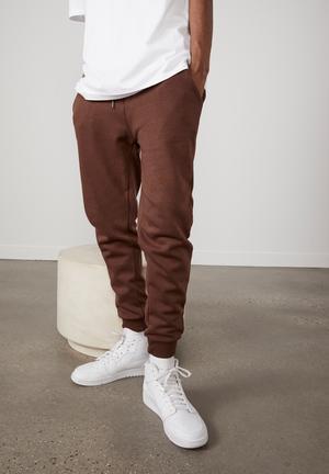 Basic track pant - brown