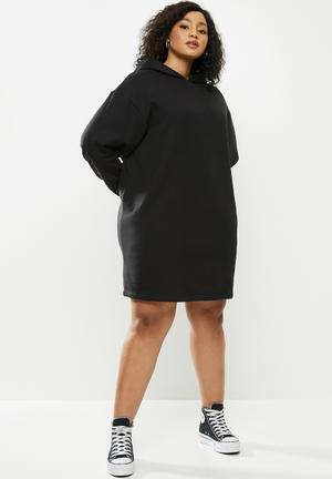 Hoodie dress - black