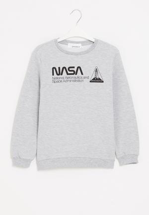 Nasa boys crew sweatshirt - grey