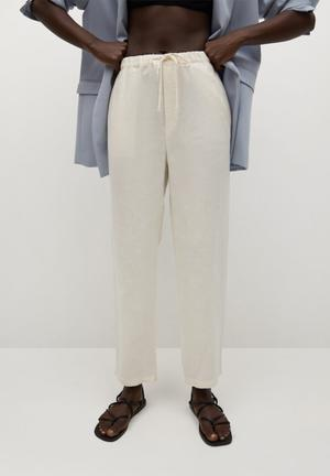 Trousers linen - natural