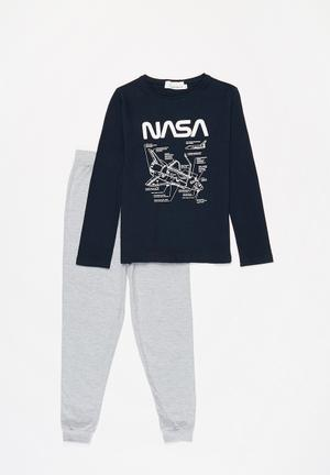 Nasa boys top & pants pj set - multi