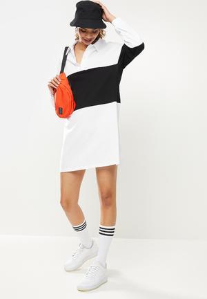 Oversize golfer dress - white & black