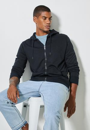 Noel zip through hoodie - navy