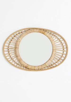Lizzy oval rattan mirror - neutral