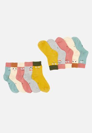 5 Pack character socks - multi