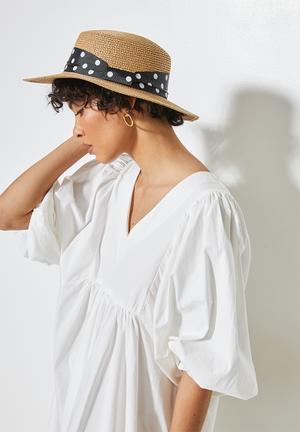 Jasmine boater hat - natural