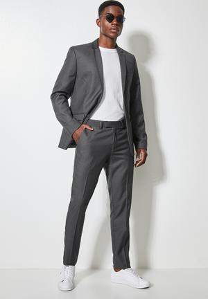 Soho slim fit 2-button single vent blazer - grey