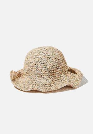 Kimberley crochet bucket hat - rainbow