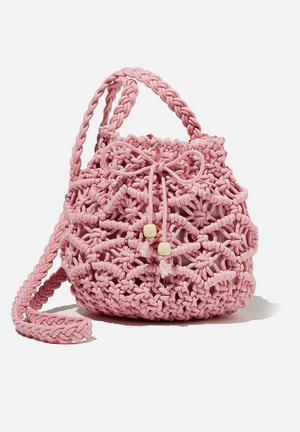 Meghan fashion bag - pink crochet