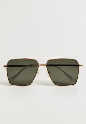 Metallic frame sunglasses - gold