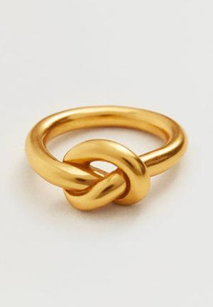 Knot detail ring - gold