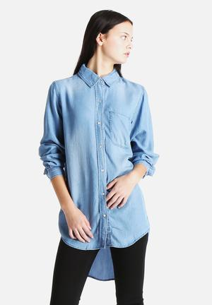 Sallo Oversized Denim Shirt