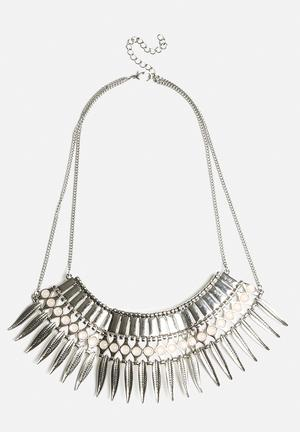 Statement Feather Spike Necklace