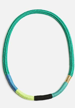 Pichulik Thin Ndebele Necklace Jewellery Jade Green