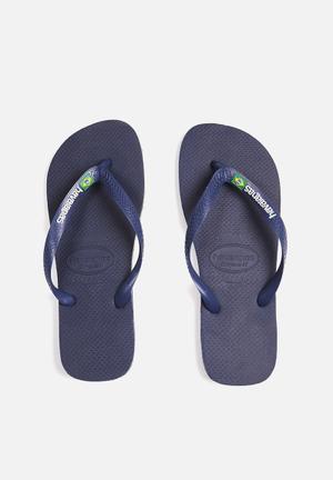 Havaianas Men's Brazil Logo Sandals & Flip Flops Navy