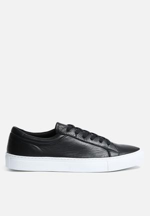 Jack & Jones Galaxy Leather Sneaker Anthracite / White