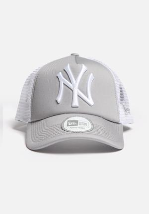 New Era Trucker NY Yankees Headwear Grey /White
