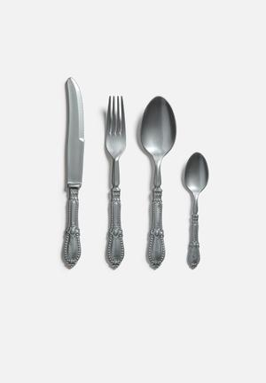 Silver Antique Plastique Cutlery