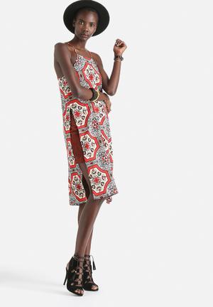 His Rayon Tile Print Dress