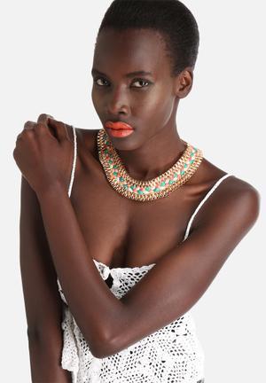 Vero Moda Lissie Necklace Jewellery Pale Gold Multi