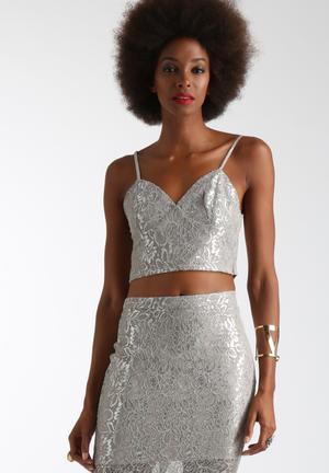 Bardot Deveaux Lace Bralet T-Shirts, Vests & Camis Silver