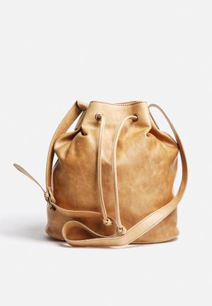 Inge Leather Bucket Bag
