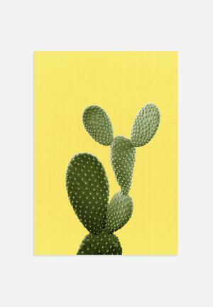 LILA+LOLA Cactus On Yellow Art