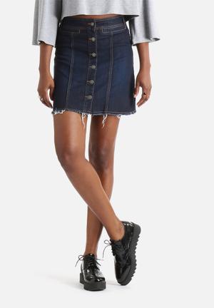 Merle A-Line Button Skirt