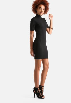 AX Paris High Neck Bodycon Dress Formal Black