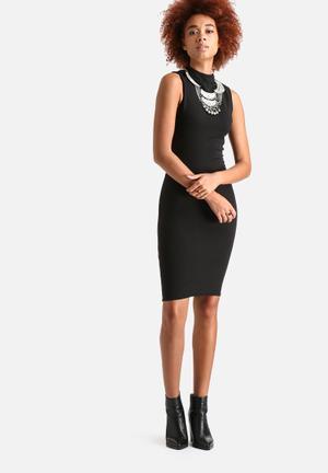 AX Paris Sleeveless Bodycon Midi Dress Casual Black