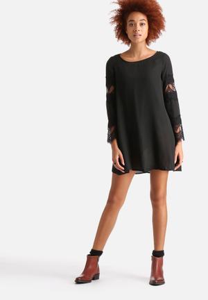AX Paris Lace Detail Swing Dress Occasion Black