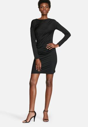 VILA Polish Ruched Dress Formal Black
