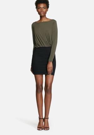 VILA Olli Dress Formal Black & Olive