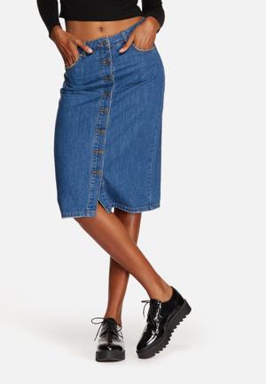 Vero Moda Abrigel Denim Skirt Medium Blue